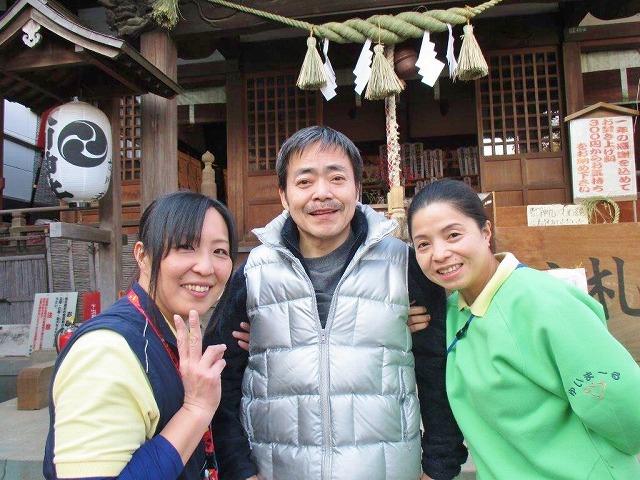 【ゆいま~るつばき】江北氷川神社に初詣