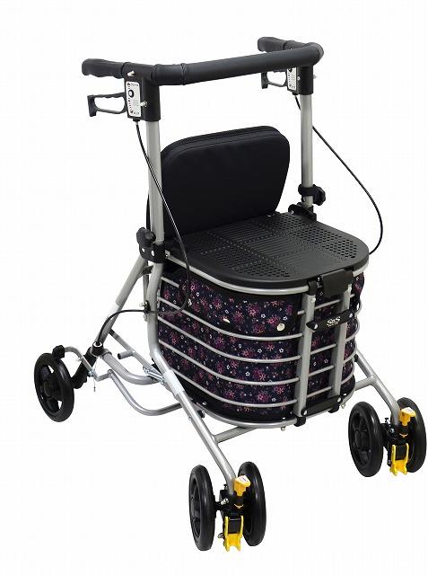 前にも後ろにも座れる快適な歩行車『シンフォニーバスケット』